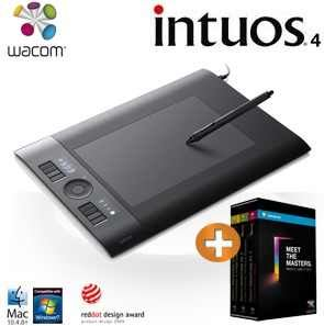 [iBOOD] Grafik Tablet: Wacom Intuos4 M Design Tablet mit ExpressKeys, Touch Ring und Lern DVDs inkl. Versand 185,90€