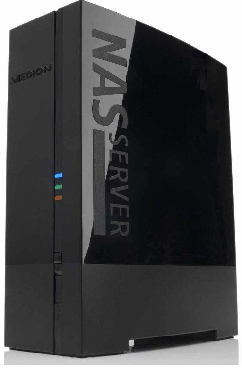 [Amazon] Medion B Ware: Design Gehäuse mit 1,5TB externen NAS Festplatte, Netzwerk DLNA Server FTP uvam. inkl. Versand 84,94€