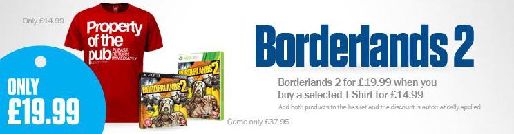 [thehut] Konsolen Game Bundle: Boderland 2 mit T Shirt inkl. Versand 37,89€
