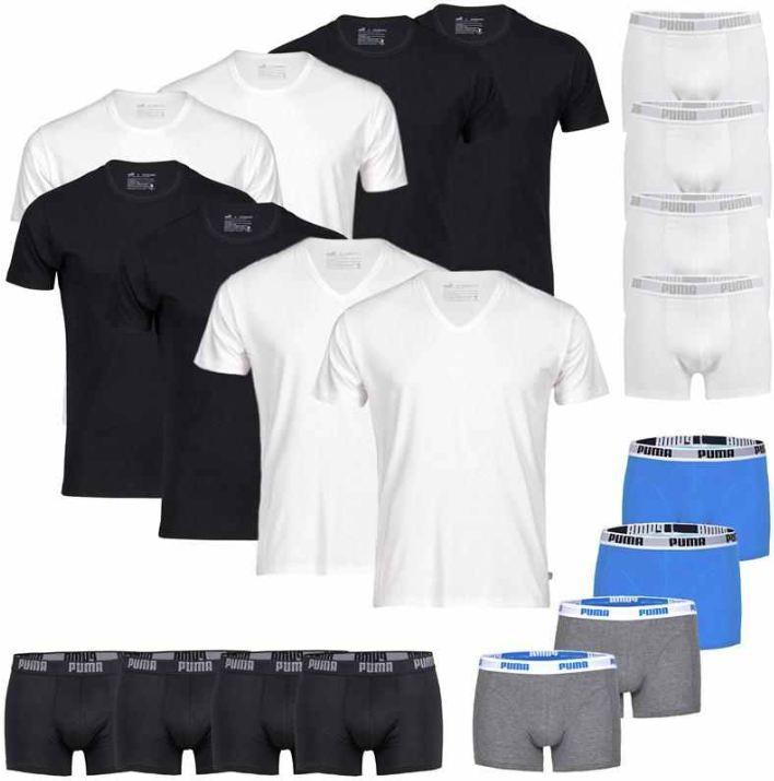 [ebay Wow] PUMA: 4er Pack T Shirts (V  o. R Neck) oder Boxershorts (Gr. S bis XL) inkl. Versand 24,99€