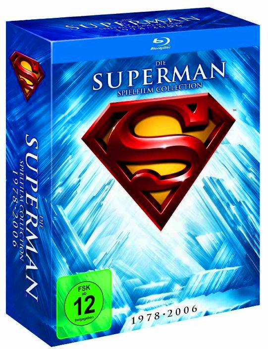 [Amazon UK] Update! 8 Blu ray Box: Superman, Die Spielfilm Collection 1978 2006 für inkl. Versand nur 28,97€