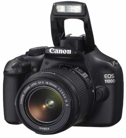 Update! Canon EOS 1100D für 279€   12MP DSLR + Objektiv EF S 18 55 IS