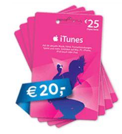 [Saturn] Wieder da! 25€ iTunes Guthabenkarte für 20€