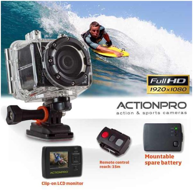 [iBOOD] ActionPro SD21 Pro Kamera: mit Full HD LCD Display inkl. Versand 235,90€