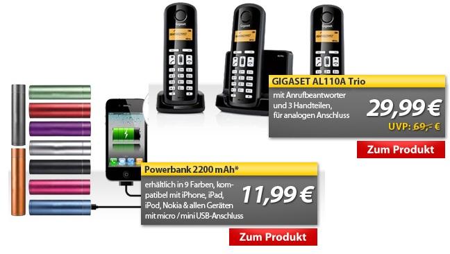 MeinPaket OHA Deals! (Powerbank 2200mAh externer Akku für 11,99€)