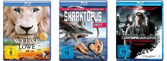 [Amazon] günstge Blu rays für 4,90€   z. B. Der weiße Löwe oder Sharktopus