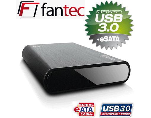 [MeinPaket] 2TB externe Festplatte: Fantec DB ALU3e (3,5 Zoll, eSATA, USB 3.0) inkl. Versand 106,20€
