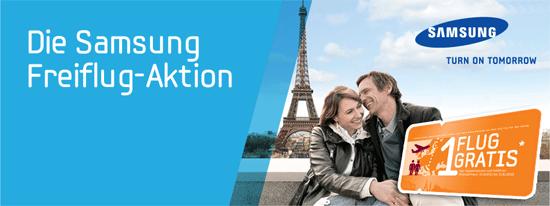 [Samsung] Gratis Freiflug innerhalb Europas beim Kauf von ausgewählten Produkten   SSD, Drucker, Monitore, Notebooks