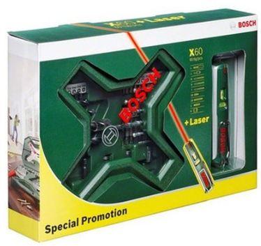 [ebay Wow] Bohrer & Schrauber Set: Bosch X Line 60 tlg. + PLL5 Laserwasserwaage inkl. Versand 26,99€