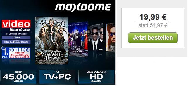 [DailyDeal] Gutschein: 19,99€ für 3 Monate maxdome (Wert 54,97€)!
