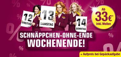 [Germanwings!] Wieder da: one way Flüge ab 33€ inklusive Meilen (ohne Gepäck)!