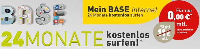 [Kostenlos!] BASE: Internet Flat (500MB) inkl. Surfstick kostenlos! Super für iPad und Tablet!