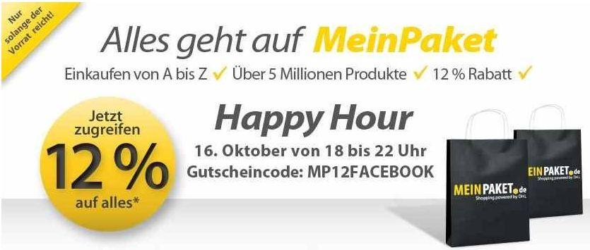 [MeinPaket]Update! Wieder da: 12% Rabattt auf (fast) ALLES! Nur noch eine Stunde möglich!