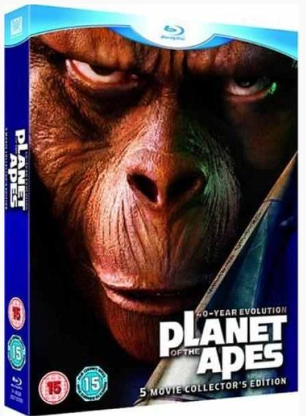 Planet der Affen, 5 Filme Collection Blu ray Box für 16,60€