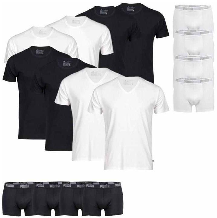 [ebay Wow] PUMA: 4er Pack T Shirts (V  o. R Neck) oder Boxershorts (Gr. S bis XL) inkl. Versand 27,90€