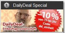 [DailyDeal] Tag der deutschen Einheit Rabatt: Bis 16Uhr 10% auf (fast) Alles!