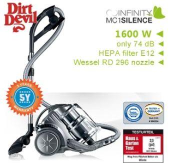 [iBOOD] Staubsauger: Dirt Devil Infinity MC1 Silence Multicyclone, inkl. Versand 158,90€