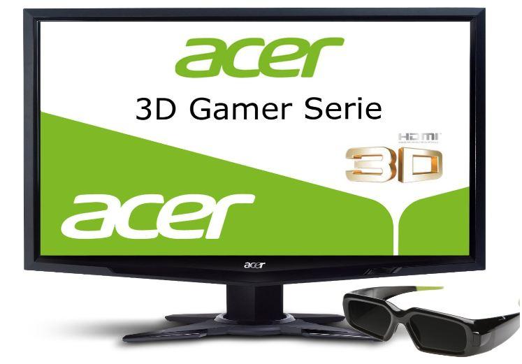 [Cyberport] Update! 24 Acer 3D LED Monitor: HDMI, 120 Hz, 2ms Reaktionszeit mit 3D Shutterbrille inkl. Versand 205,98€