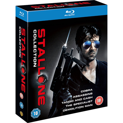 [Amazon.co.uk] Sylvester Stallone Collection (Blu ray) für 18,04€