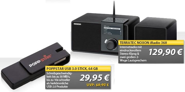 OHA Deals! (64GB Poppstar flap USB 3.0 Stick & Terratec Noxon Internet Radio)