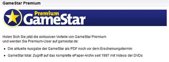 [GameStar] Premium Account: 1 Monat gratis testen