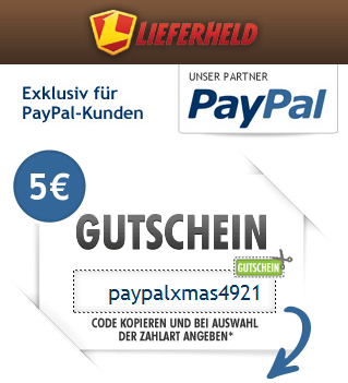 [Lieferheld] 5€ Gutschein für Neukunden