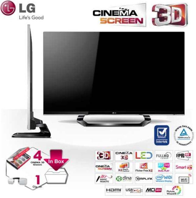[iBOOD] 42er 3D Smart TV: LG CINEMA mit FPR 3D Panel, 3D Brillen (4Stk.) und Magic Motion Remote inkl. Versand 679,95€