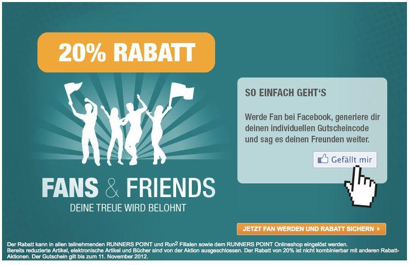 20% Runnserpoint Gutschein für Facebook Fans   Auch auf Saleware