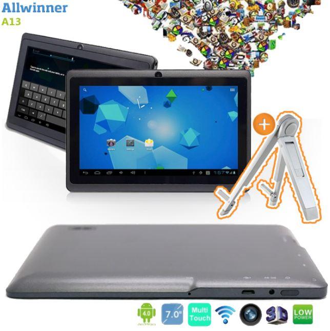 [iBOOD] Android 4.0 Tablet: Allwinner A13 mit 3D Beschleuniger + Ständer, inkl. Versand 75,90€