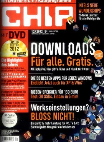 [Abo] Hammer! Jahresabo CHIP mit DVD dank Gutscheincode nur 9,88€