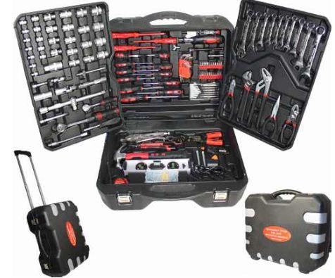 Werkzeugkoffer mit 187 Teilen, CV Steckschlüssel Set mit Trolley, nur 57,95€   wieder da!