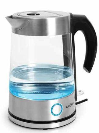 [ebay Wow] kabelloser Wasserkocher: Klarstein 1,7 Liter, mit blauen LED aus Glas Edelstahl inkl. Versand 28,80€