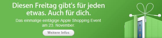 [Apple] Tipp! Rabatte am Black Friday 23.11.2012!