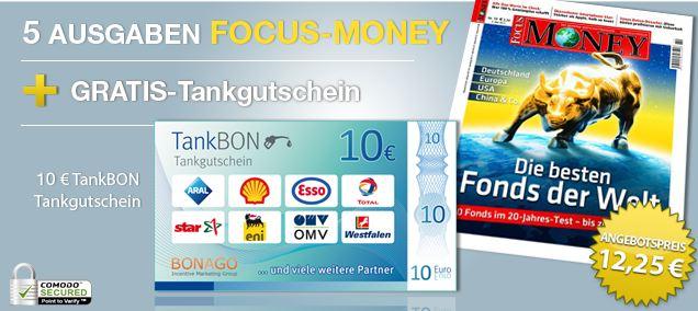 [Mini Abo] 5 Ausgaben FOCUS MONEY effektiv für 2,25€ dank Gutschein!