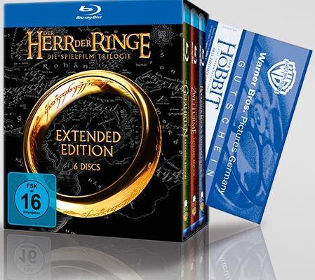 """[Tchibo] Blu ray / DVD Box: """"Herr der Ringe Die Spielfilm Trilogie"""" ab 19,95 Euro & Eintrittskarte für """"Der Hobbit"""