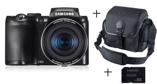 [MeinPaket] Brigedigicam: Samsung WB100 Digitalkamera (16,4 MP, 26 x Zoom) inkl. Tasche, Speicherkarte und Versand 125,99€