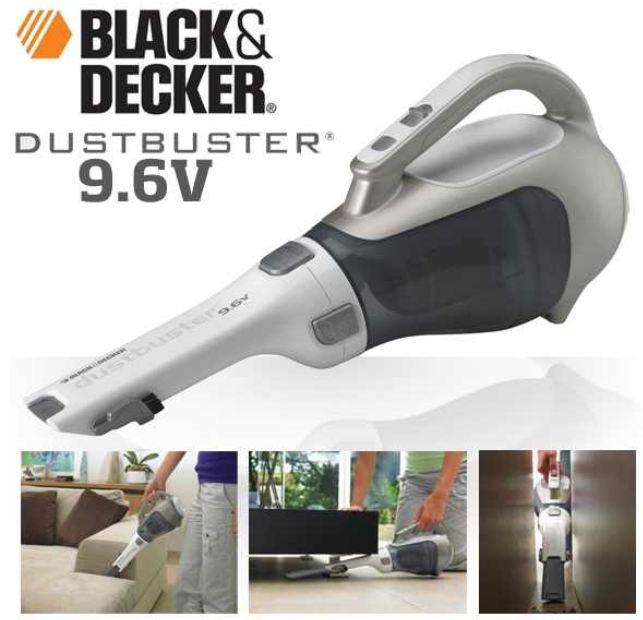 Black & Decker 9.6V Handstaubsauger mit Beutelloser Zyklon Technologie inkl. Versand 45,90