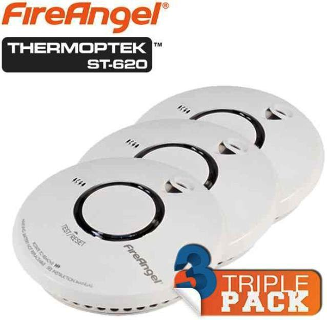 FireAngel Thermoptek St 620, 3er Pack Rauchmelder für 35,90€!
