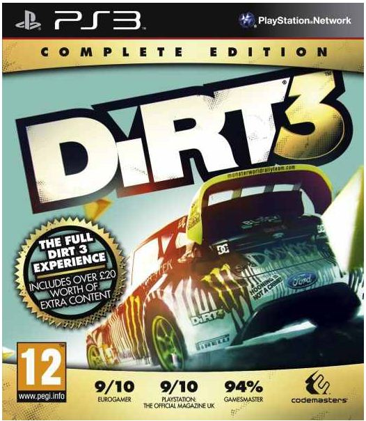 Update! PS3 / XBox Game: Dirt 3 inkl. Versand nur 10,49€