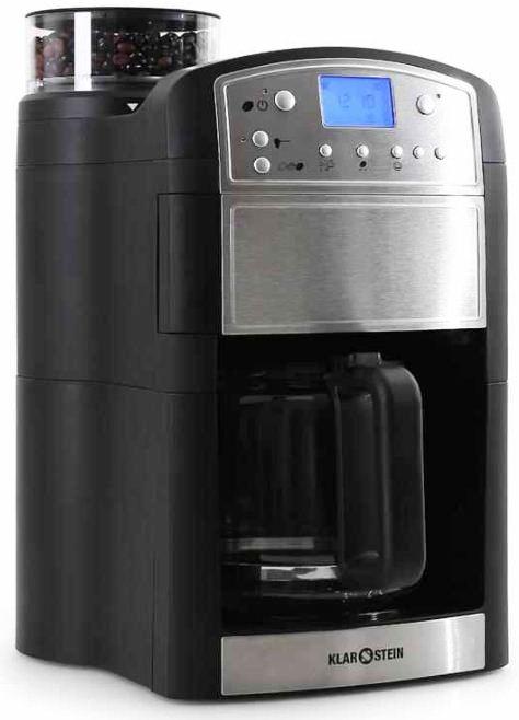 [ebay Wow]Kaffevollautomat: KLARSTEIN Coffeemate mit Glaskanne, Timer, Mahlwerk und Versand 69,99€