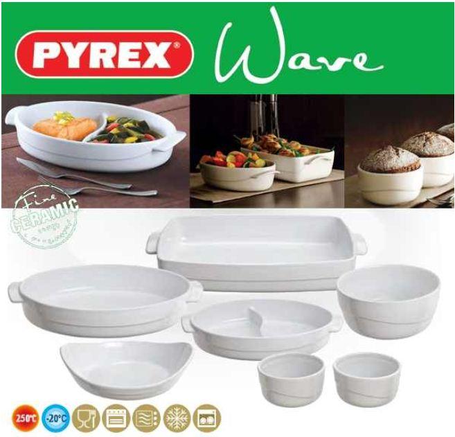 [iBOOD] 7teiliges Keramik Schalen Set: Pyrex Wave inkl. Versand 43,90€