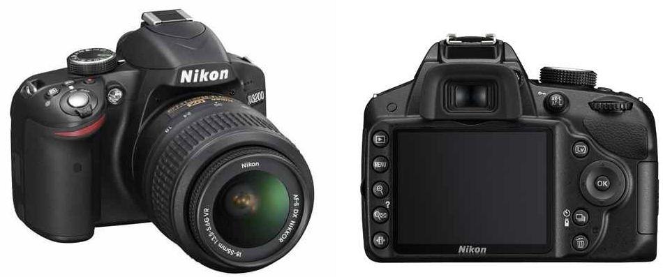 Nikon D3200 SLR 24MP Digicam mit AF S DX Nikkor 18 55 für 399€