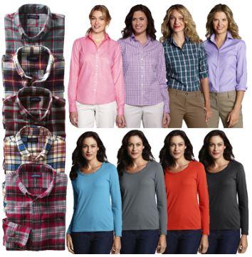 [ebay Wow] LANDS END: Herren Freizeit und Damenblusen / Shirts, inkl. Versand je 12,90€