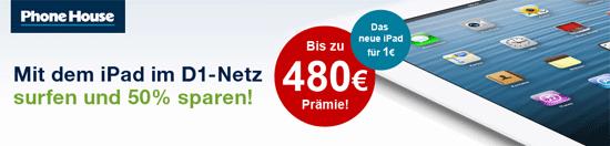[hgwg] iPad 3 (16GB, 4G) mit 3GB Telekom Datentarif für effektiv 21,03€ im Monat