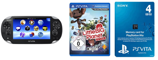 [Amazon] PlayStation Vita (3G, WiFi) + 4GB Speicher + LittleBigPlanet für 199,99€