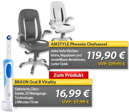 OHA Deals! (Braun Oral B Vitality Precision Clean & Amstyle Phoenix Chefsessel)
