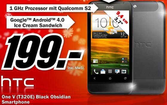 [MediaMarkt] nur diese Nacht: HTC One V Obsidian für nur 199€!