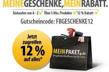 [MeinPaket] Wieder da! Gutschein über 12% Rabatt auf (fast) Alles!