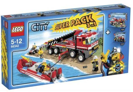 [ebay] Lego: CITY 66342 Feuerwehr Superpack 3 in 1 inkl. Versand 36,99€