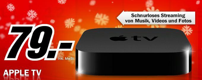 [MediaMarkt] Hammer! nur diese Nacht: Apple TV 3 für nur 79€ (Vergleich 98€)!